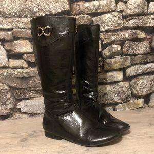 Black Rain Boots lined